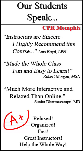 BLS, ACLS PALS Reviews. Healthcare Providers review CPR classes in Memphis Tennessee.